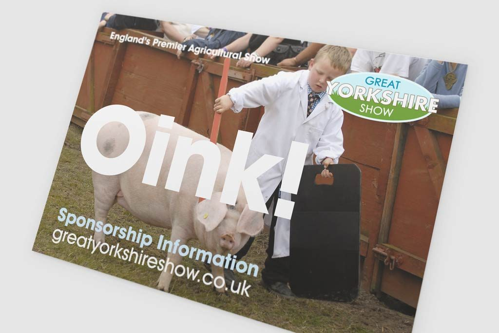 Example 2 of print design for the Great Yorkshire show